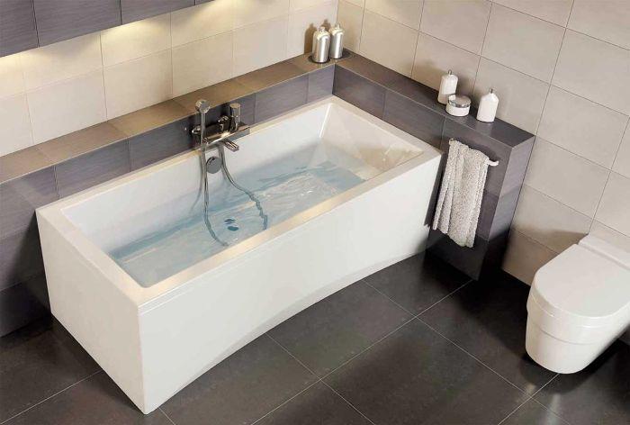 badewanne rechteck acryl 140x75 150x75 160x75 170x75. Black Bedroom Furniture Sets. Home Design Ideas