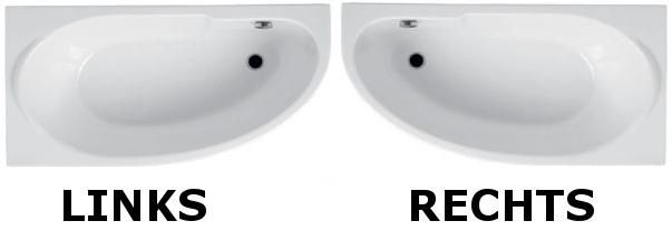 badewanne acryl 140x70 links rechts rechteck sch rze wanne alpin wei miki ebay. Black Bedroom Furniture Sets. Home Design Ideas