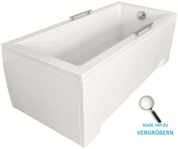 badewanne bad rechteck acryl 120 130 140 150 160 170x70. Black Bedroom Furniture Sets. Home Design Ideas