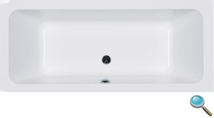 badewanne modo 180x80 wannentr ger rechteck acryl viega. Black Bedroom Furniture Sets. Home Design Ideas
