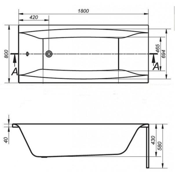 badewanne acryl wannentr ger 140 150 160 170x75 180x80. Black Bedroom Furniture Sets. Home Design Ideas