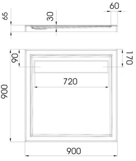 duschwanne unterbau tr ger duschtasse flach ablauf acryl camparo ap50 t g rlitz. Black Bedroom Furniture Sets. Home Design Ideas