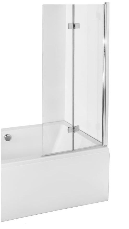 2 teile badewannenfaltwand 150x80 faltwand duschtrennwand glas klar prestigio ebay. Black Bedroom Furniture Sets. Home Design Ideas
