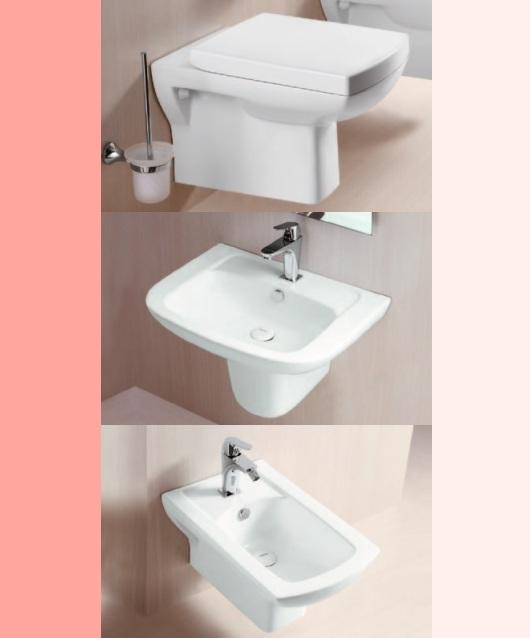 wand h nge waschtisch wandh ngend waschbecken mit berlauf wei keramik claro. Black Bedroom Furniture Sets. Home Design Ideas
