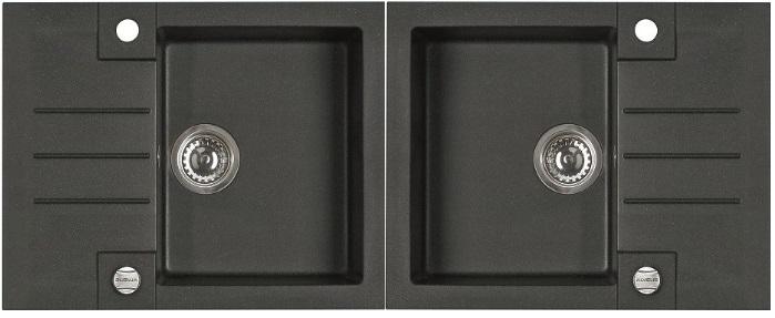 Spülbecken Maße = Spüle Granitspüle Spülbecken ROCK Granit Küche Einbauspüle