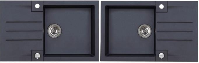 Spüle Granitspüle Spülbecken ROCK Granit Küche Einbauspüle  ~ Spülbecken Maße