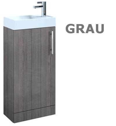 badm bel set waschbecken schrank waschtisch wei grau. Black Bedroom Furniture Sets. Home Design Ideas