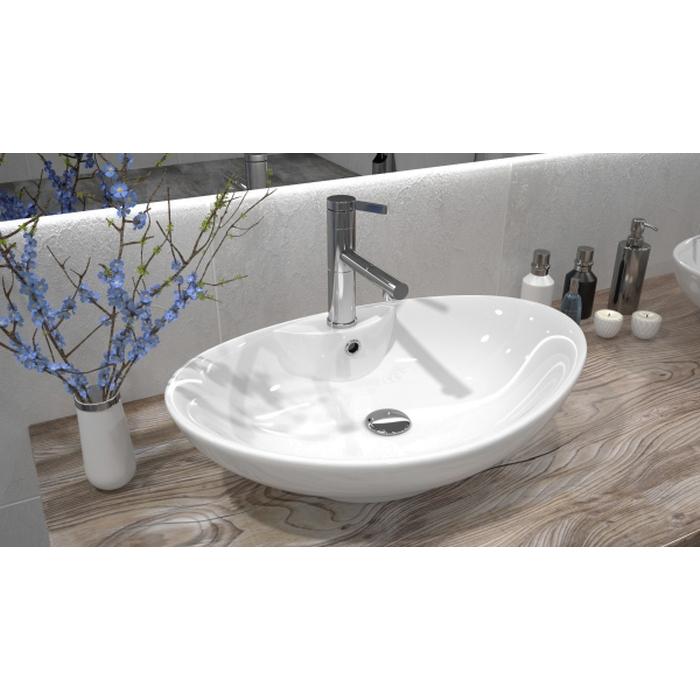 waschtisch oval mit beautiful terrazzo waschbecken orion. Black Bedroom Furniture Sets. Home Design Ideas