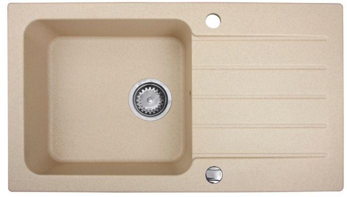Spüle Spülbecken BORNEO Granit Küche Einbauspüle 78 x 44  ~ Spülbecken Beige