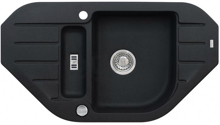 spüle spülbecken niagara 60 eckig granit küche einbauspüle  ~ Spülbecken Eckig