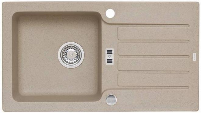 Spüle Spülbecken NIAGARA 30 Granit Küche Einbauspüle 78 x  ~ Spülbecken Beige