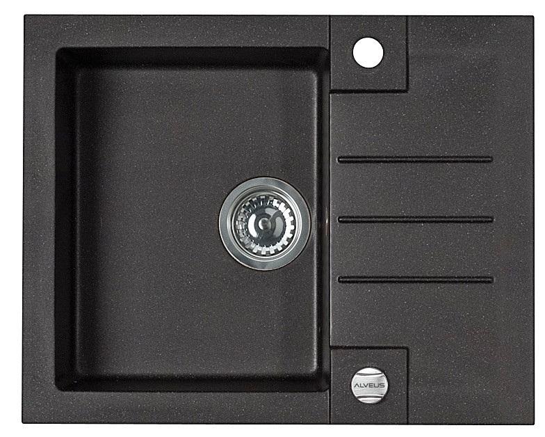sp le becken r cky 80 granit einbausp le 59x47 schwarz beige wei einbau siphon ebay. Black Bedroom Furniture Sets. Home Design Ideas