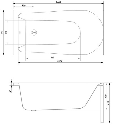 badewanne rechteckige f e alpine ablaufgarnitur 140 150 160 170x70 flavia f ebay. Black Bedroom Furniture Sets. Home Design Ideas
