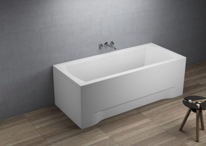 badewanne rechteckig acryl styropor wannentr ger siphon 170x75 180x80 inessia wt ebay. Black Bedroom Furniture Sets. Home Design Ideas