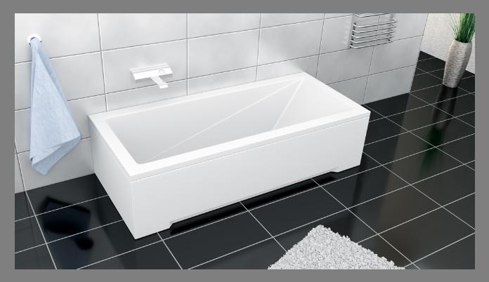 badewanne wannentr ger tr ger acryl 120 130 140 150 160. Black Bedroom Furniture Sets. Home Design Ideas