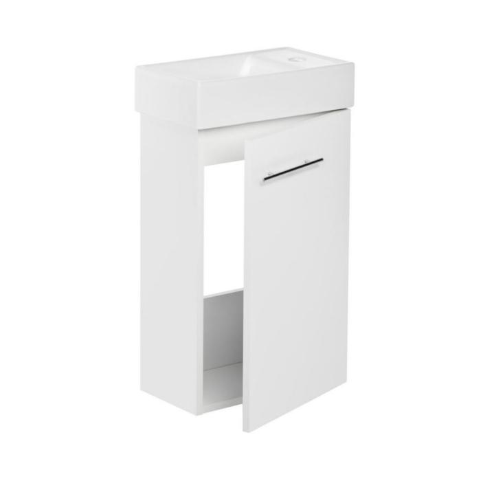 vbcbad badm bel badezimmer unterschrank mit waschbecken aus keramik wei kim ebay. Black Bedroom Furniture Sets. Home Design Ideas