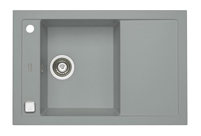 Spüle Spülbecken Küchenspüle 76x50 cm Beton Einbauspüle Excenter ...