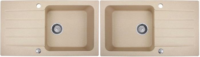 sp le becken borneo granit einbausp le 78x44 beige armatur komplett einbau neu ebay. Black Bedroom Furniture Sets. Home Design Ideas